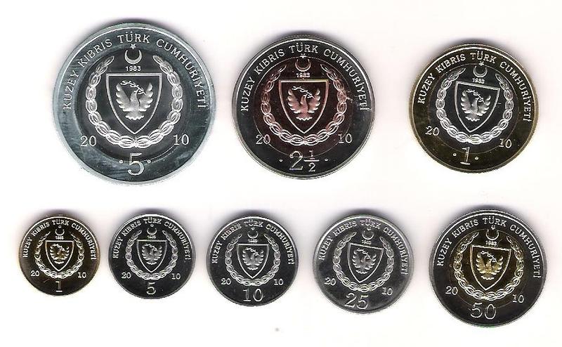Cyprus 8 coins set 2010 UNC #3947