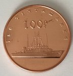 Île Tintamarre 100 francs 2017 copper