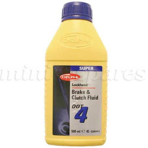 Liquido de frenos DOT4, 500ml.